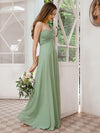 Feminine One Shoulder A-Line Bridesmaid Dresses-Mint Green 3