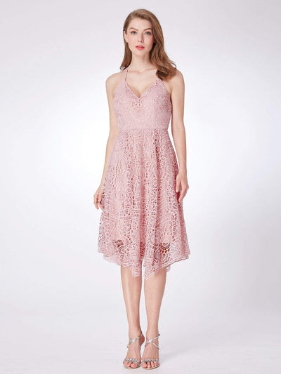 Short Halter Lace Summer Dress