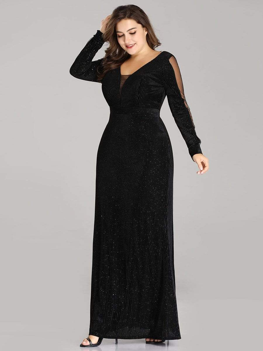 Plus Size Long Sleeve Velvet Winter Evening Dresses Ever Pretty Uk