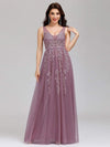 Maxi Long Elegant Ethereal Tulle Evening Dresses-Purple Orchid 1