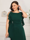 Women'S A-Line Sleeveless Evening Party Bridesmaid Dress-Dark Green 10