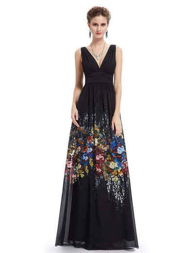 Sleeveless Long Floral Maxi Dress