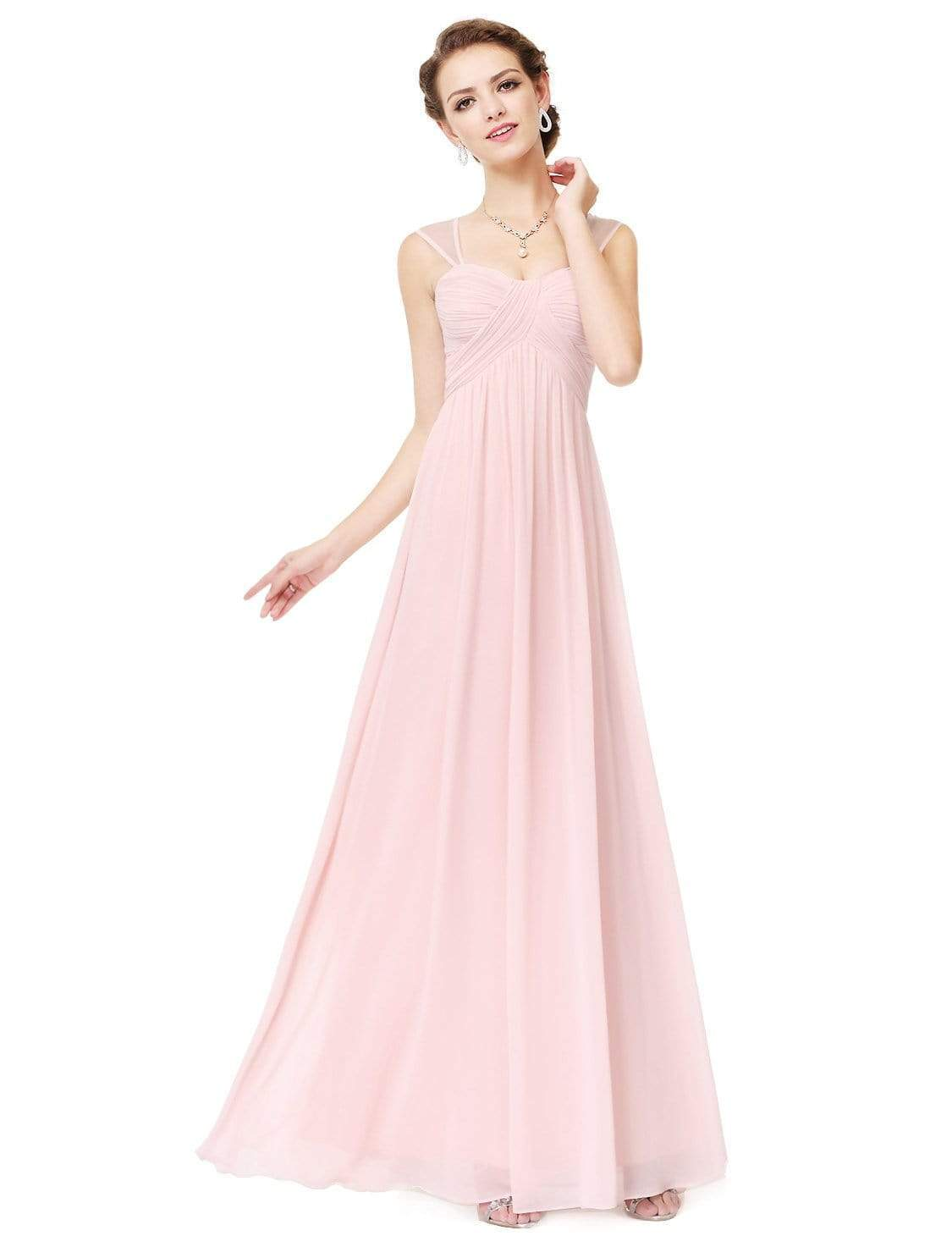 918ba97be02f Elegant Long Chiffon Bridesmaid Dress with Corset Back |Ever-Pretty ...
