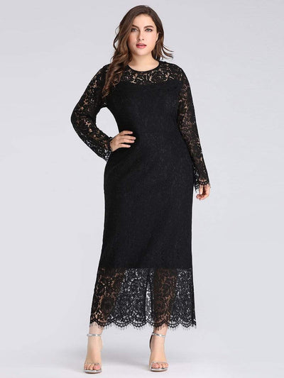 Long Sleeve Lace Fitted LBD