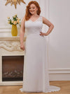 Maxi Long Wedding Dresses With Lace For Women-Cream 1
