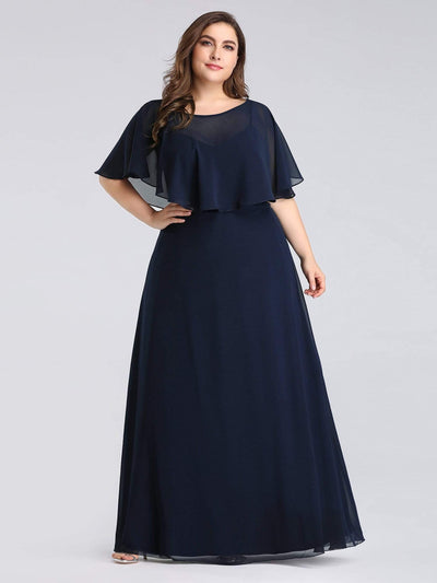 Long Bridesmaid Party Dress with Shawl