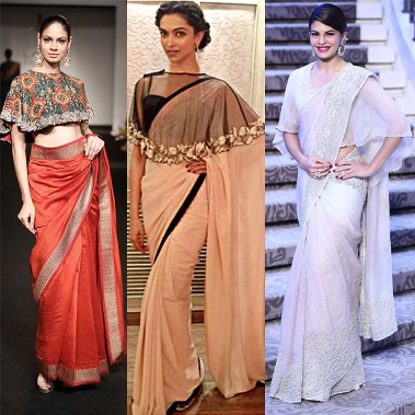 Various style of Saree wraping