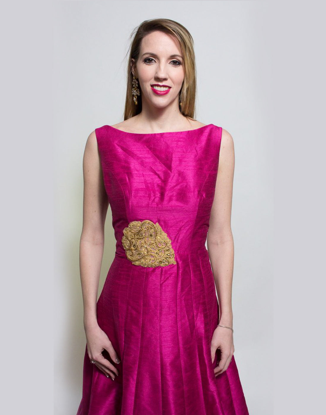 Rent Burgundy Gown-Women-Glamourental