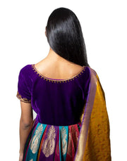 Banarasi Multi Color Anarkali-Women-Glamourental