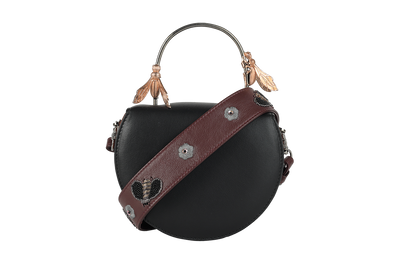 Charcoal Wasps / Burgundy Sting Strap-Clutch-Glamourental