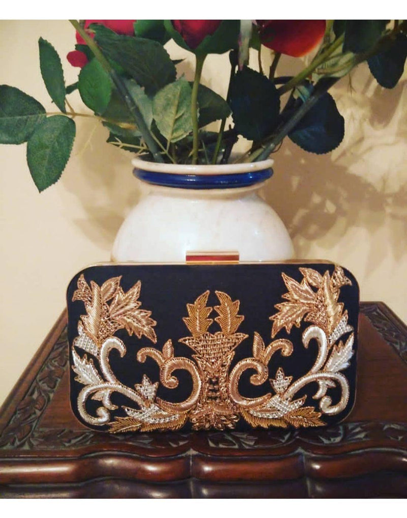 Hand Embroidered Clutch-Clutch-Glamourental
