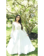 Pearl White Georgette Gown