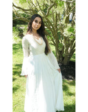 Rent Pearl White Georgette Gown