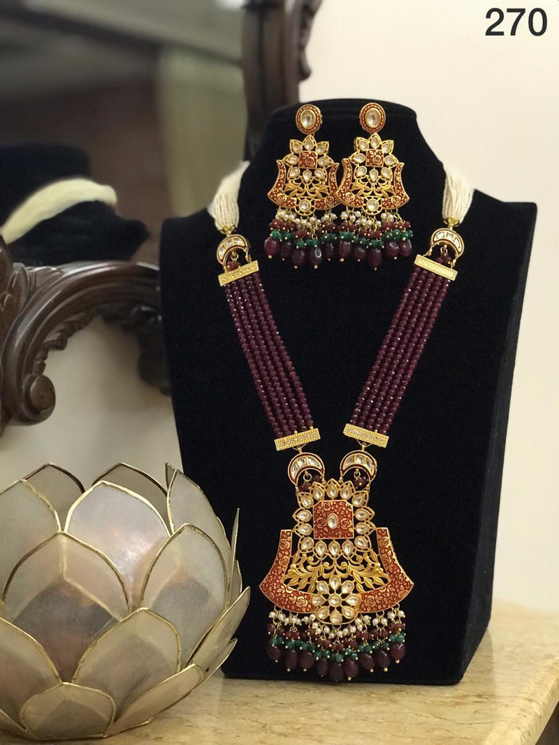 Kundan Necklace Jewellery Set-Accessories-Glamourental