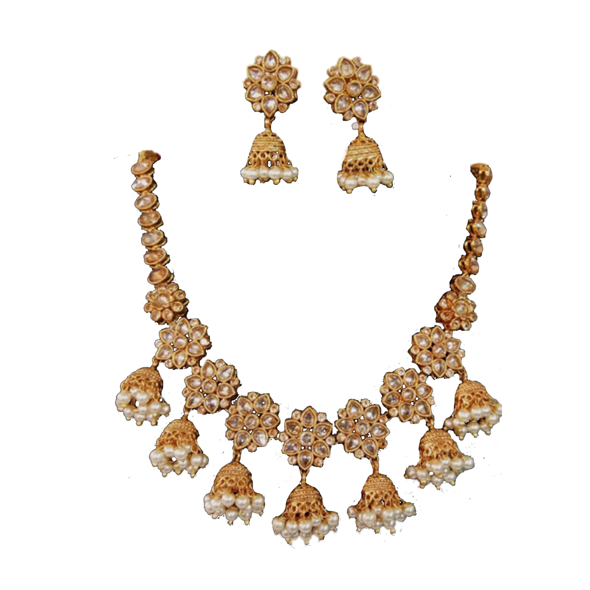 Jhumka Style necklace and earring set