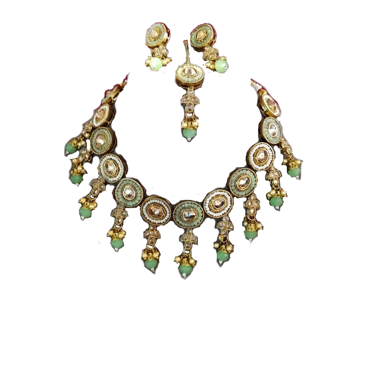 Golden Necklace Kundan Set