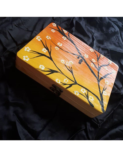Sunset Hand Painted Wooden Clutch Bag