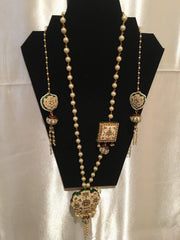 Ivory Long Meenakari Necklace Sets