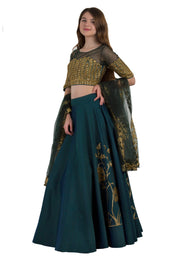 Bottole Green Heavy Lehenga choli