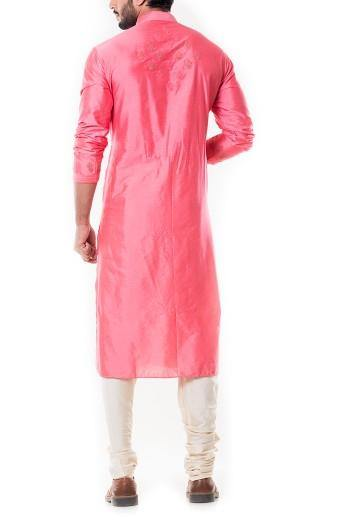 Pink Kurta Set-Men-Glamourental