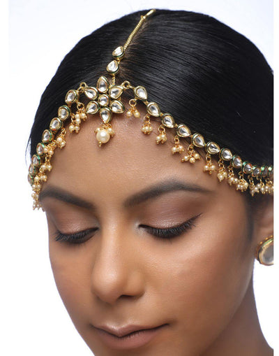 Kundan Maatha Patti-Accessories-Glamourental