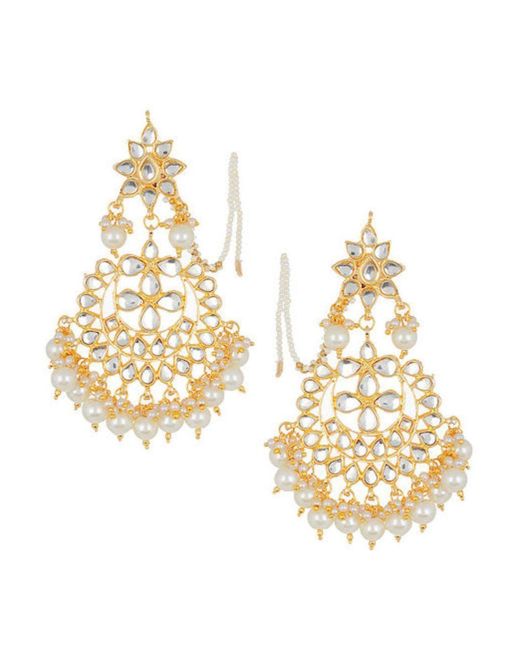 Kundan Earrings-Accessories-Glamourental