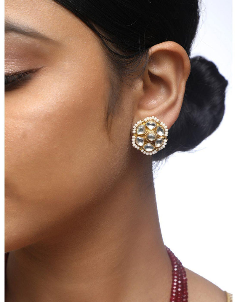 Kundan Studs-Accessories-Glamourental