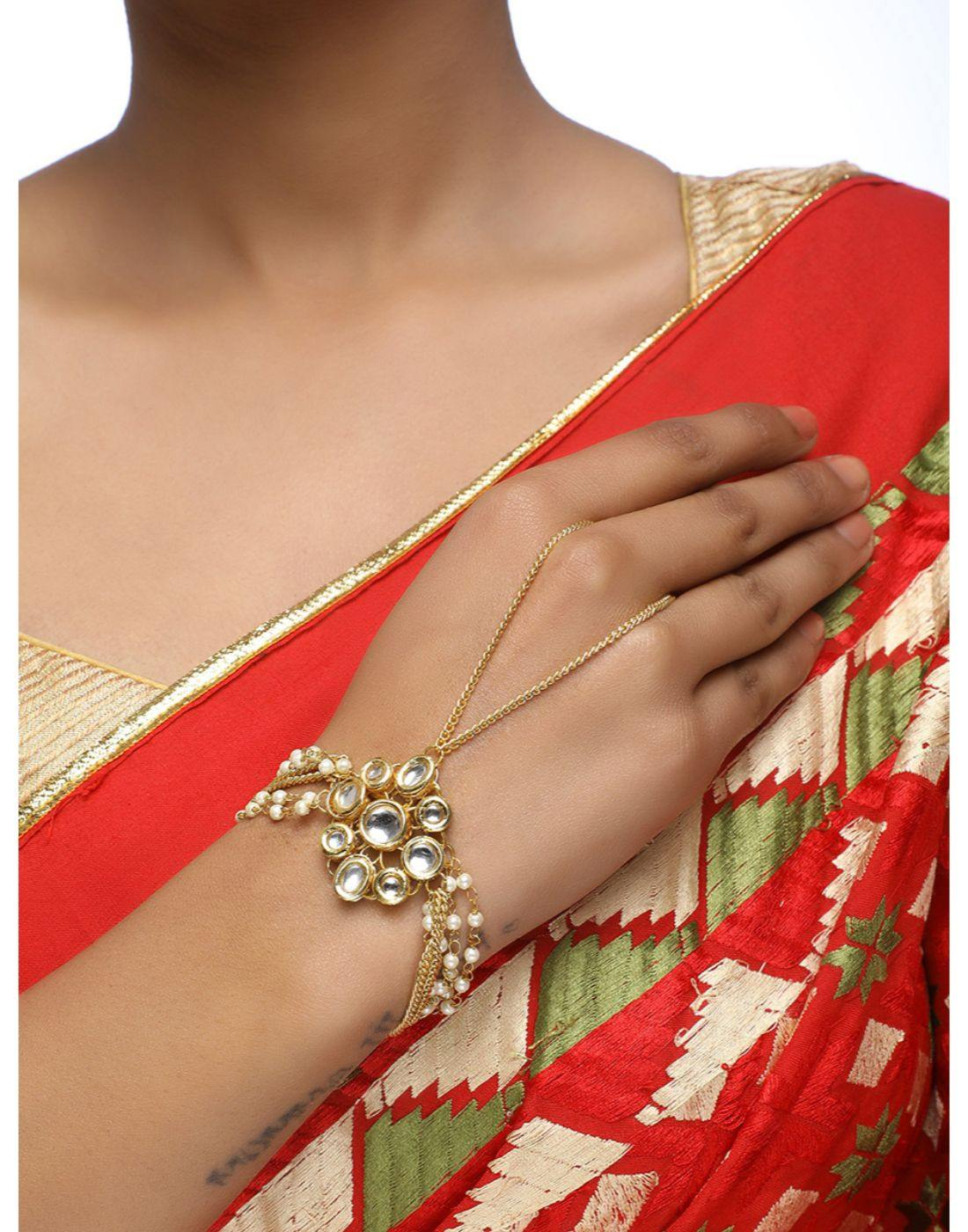 Kundan Bracelet-Accessories-Glamourental