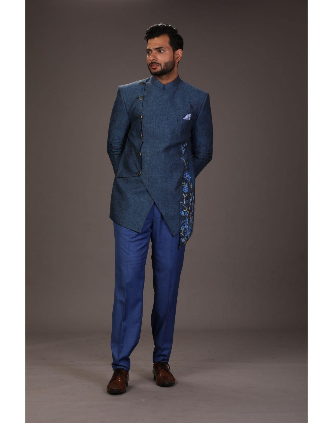 Bandhgala Trouser-Men-Glamourental