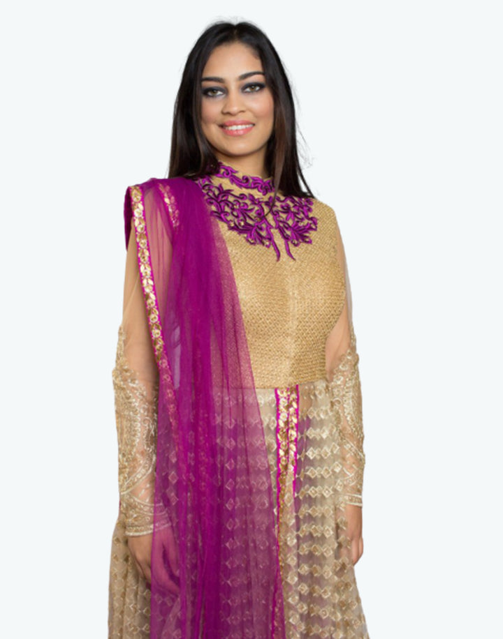 Rent Gold Kurta With Dhoti And Dupatta