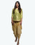 Rent Brocade Green Kurta With Dhoti Pant