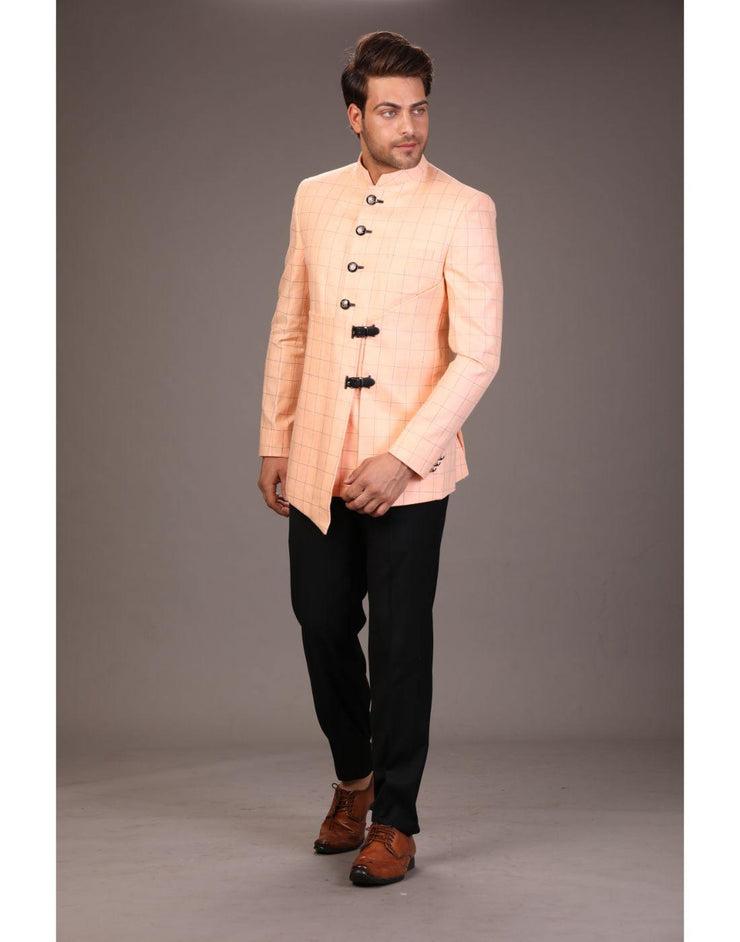 Bandhgala Trouser - Pink-Men-Glamourental