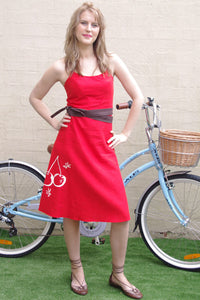 lubbock fashion, handmade linen dress
