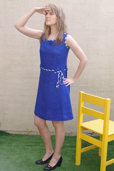 sailor shift dress - blue