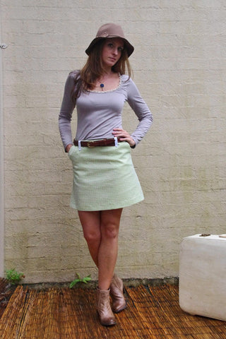 sweet suzie a-line skirt. green
