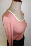 Lace scoop, sorbet long sleeve tee