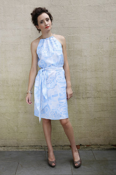 lubbock fashion, handmade, silk dress, art print