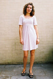 stripe dress nude/white