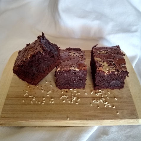 Tahini brownies 8 pieces (gluten free)
