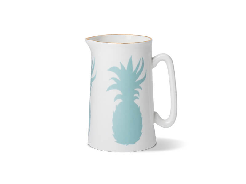 PINEAPPLE ONE PINT JUG WITH GOLD RIM