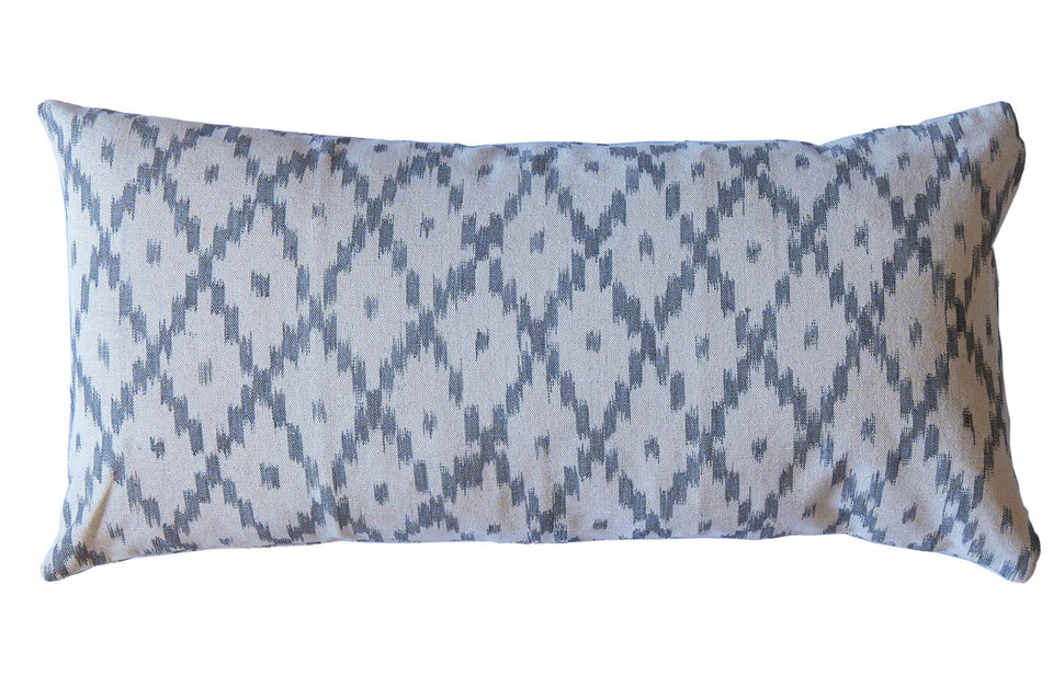MALLORCAN FABRIC CUSHION - STEEL GREY MEDIUM CHEVRON