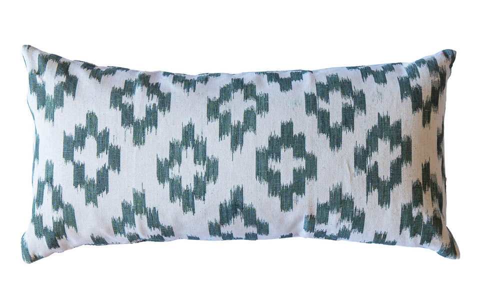 MALLORCAN FABRIC CUSHION - OAK GREEN LARGE CHEVRON