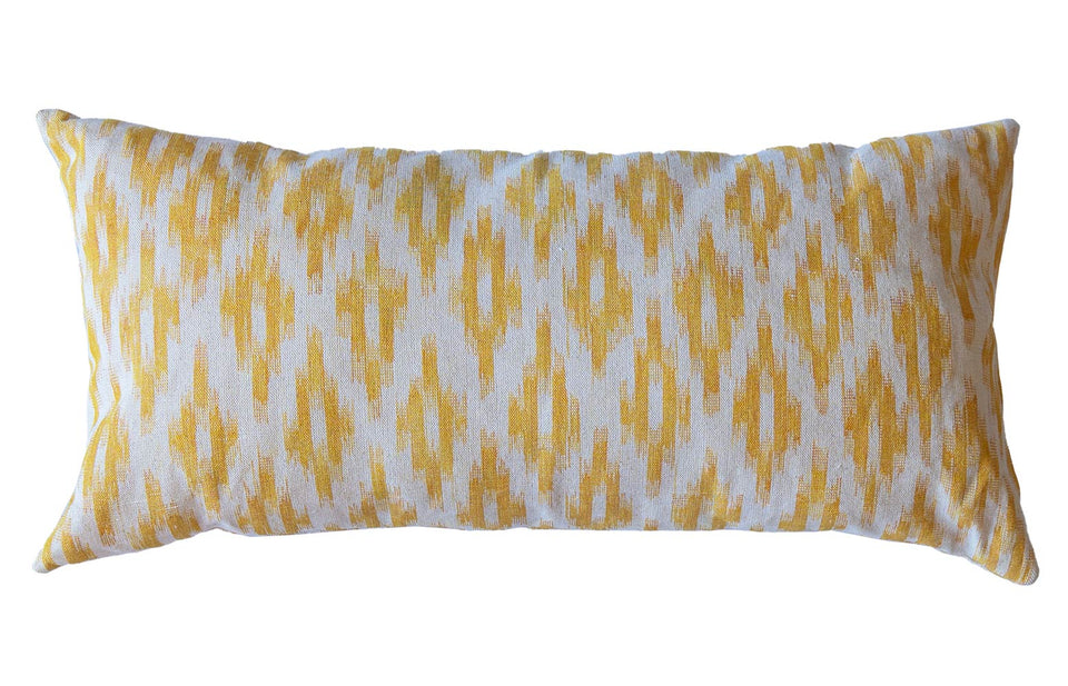 MALLORCAN FABRIC CUSHION - GOLDEN YELLOW MEDIUM CHEVRON