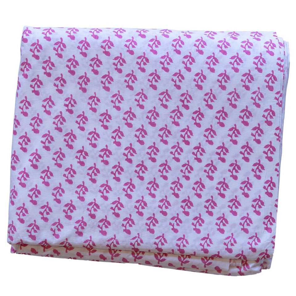 SMALL TREE FABRIC IN PINK