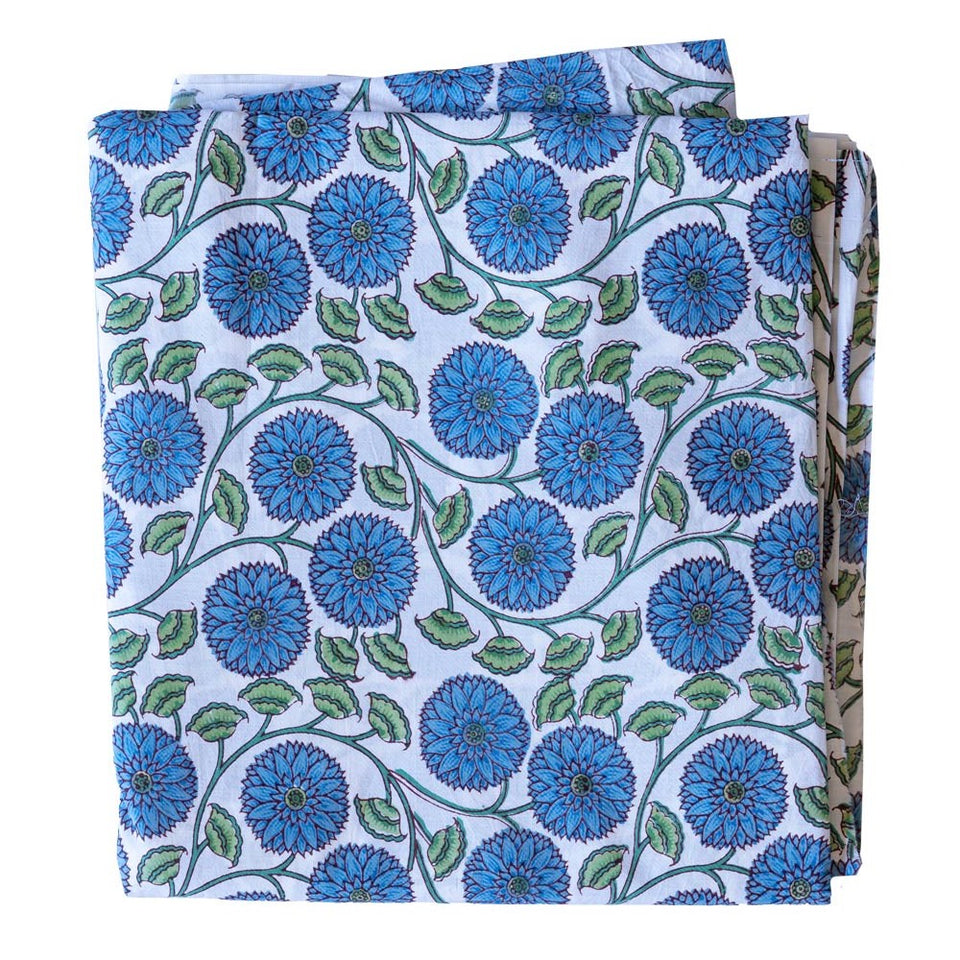 LOTUS SUNFLOWER IN BLUE/GREEN