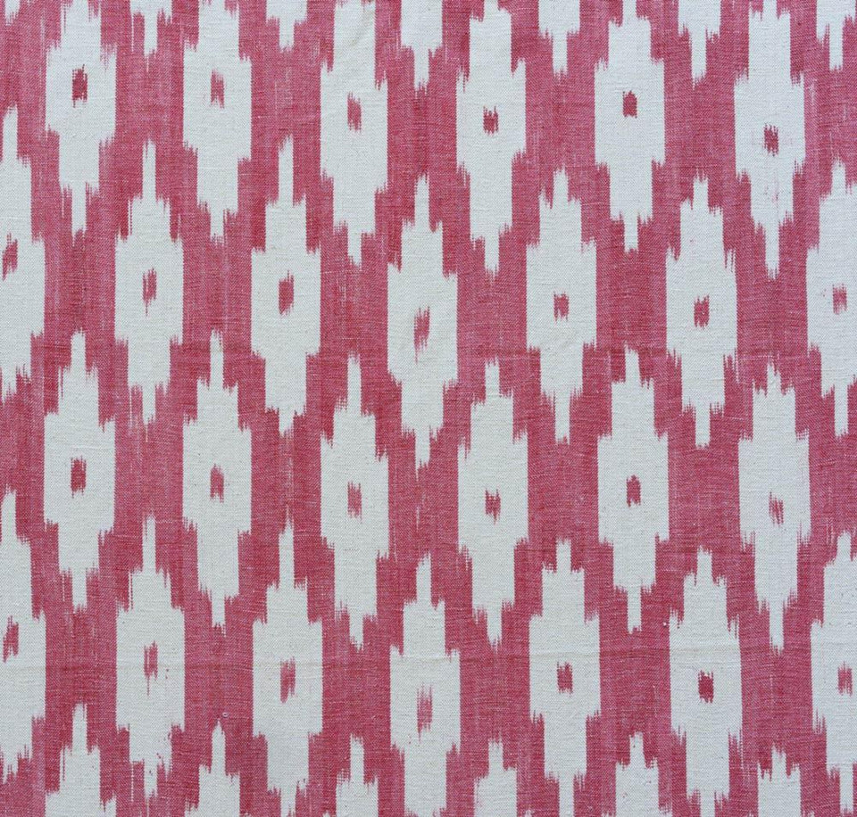 BUJOSA FABRIC - APPLE RED LARGE CHEVRON