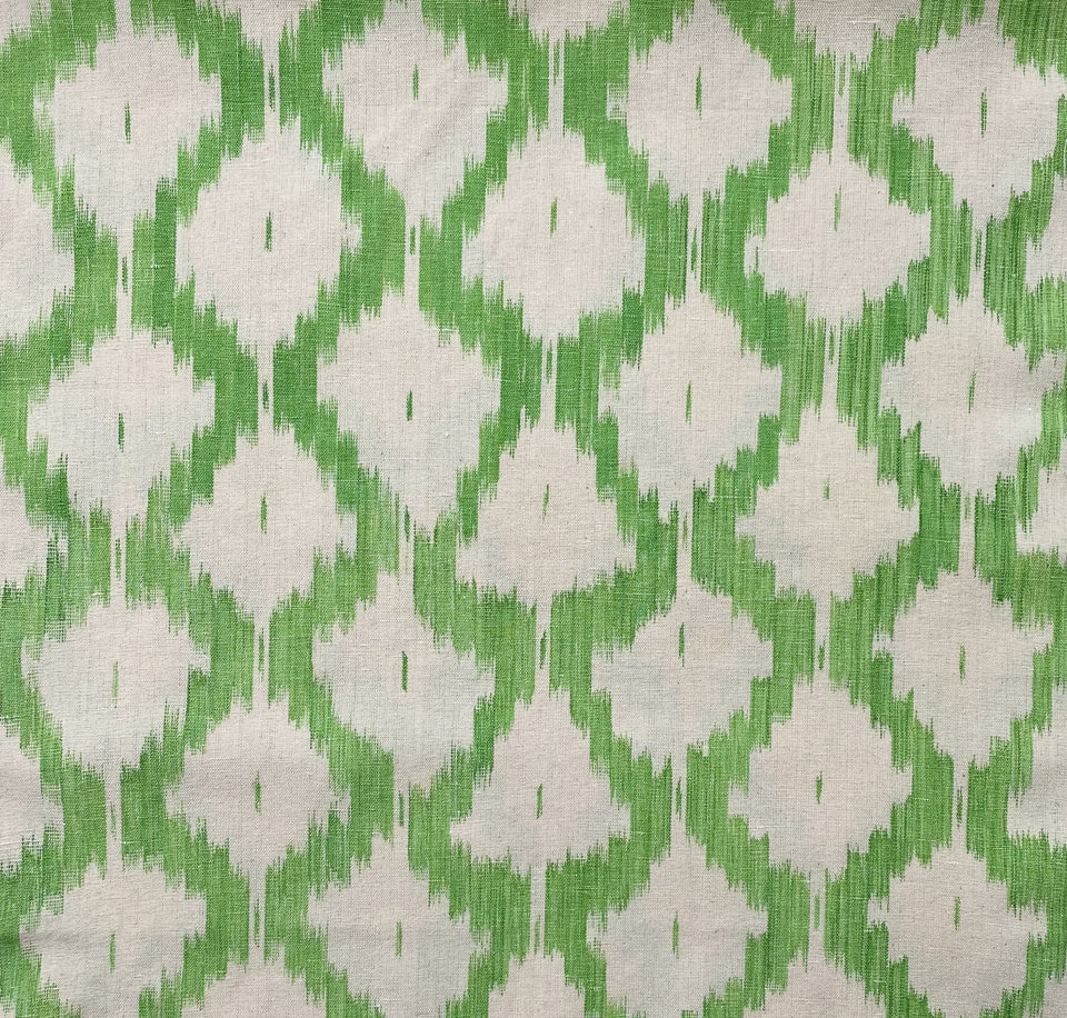 BUJOSA FABRIC - APPLE GREEN LARGE CHEVRON
