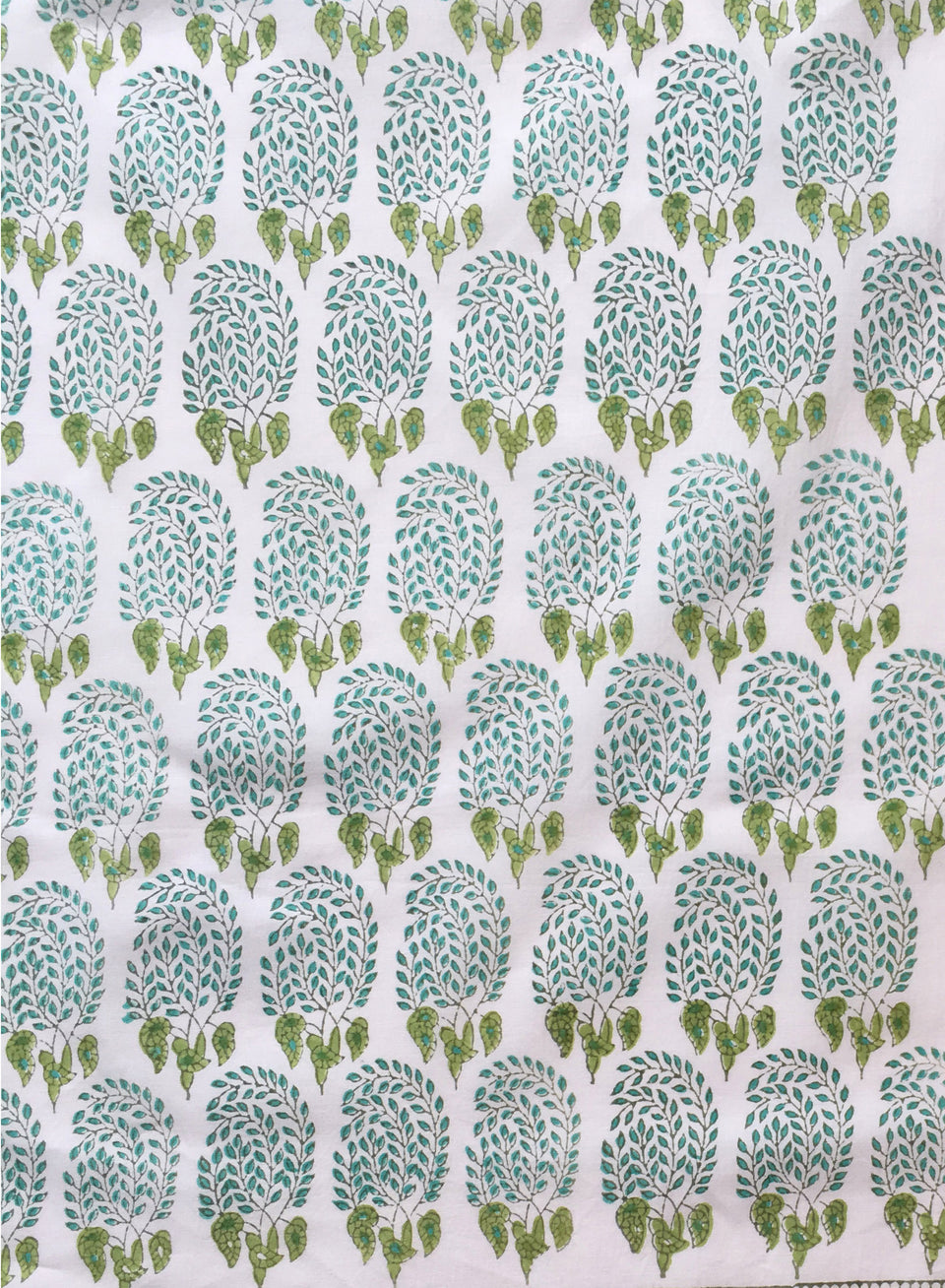BUMBLE FABRIC IN AQUA/GREEN