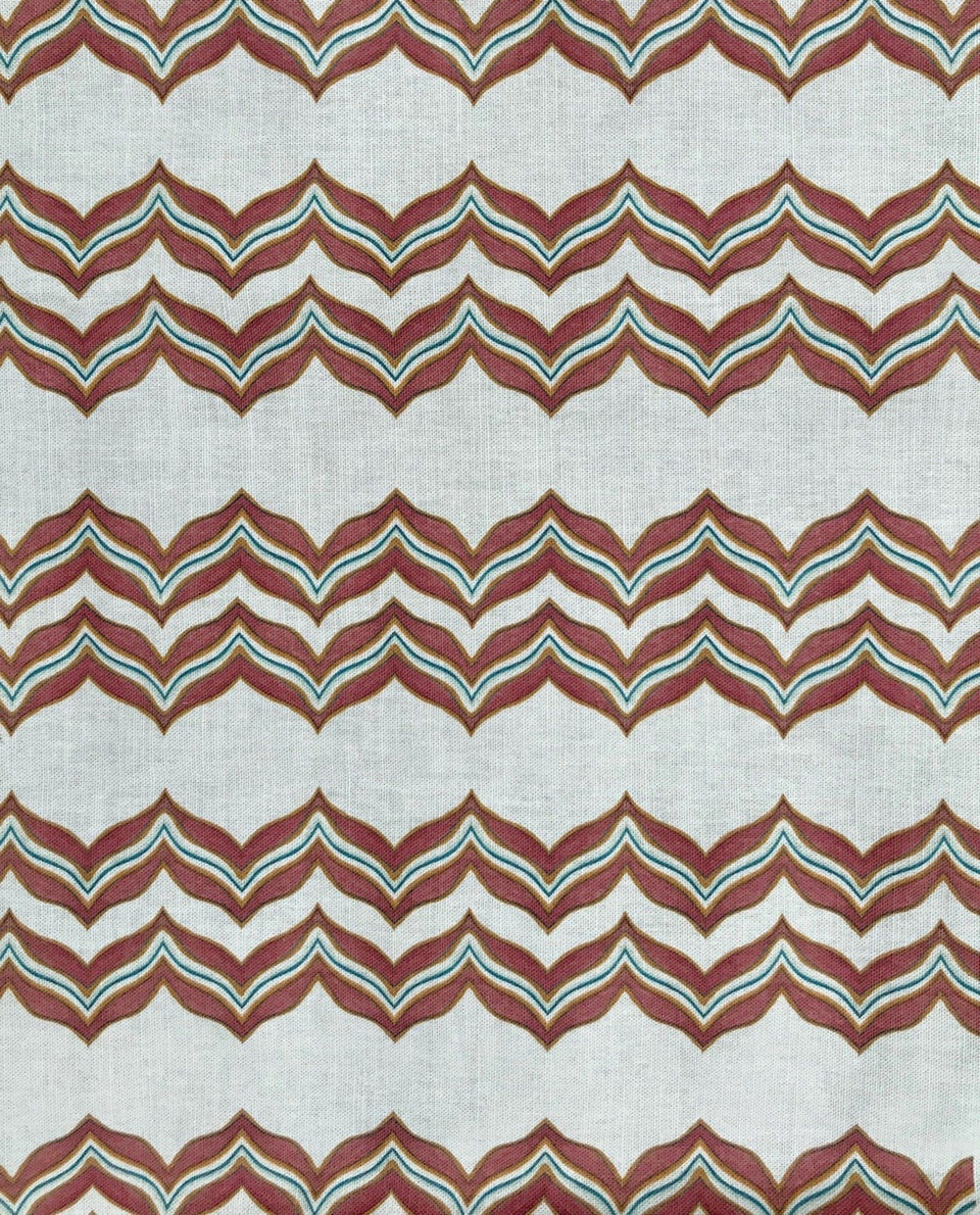 Chevron striped fabric in orange