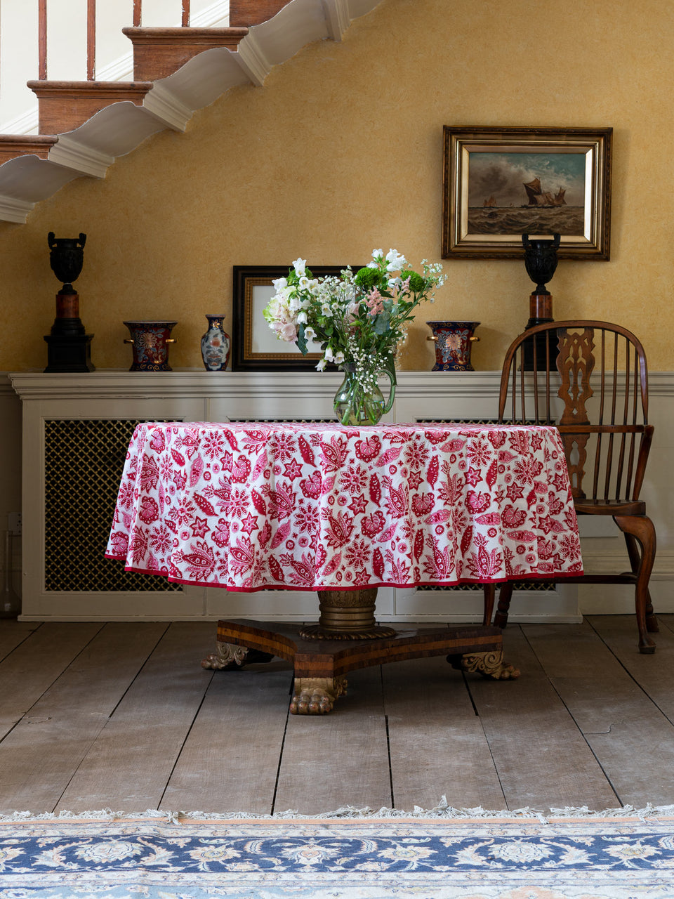ROBERTA JAL TABLECLOTH IN RED